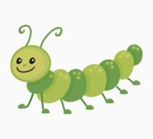 Cute cartoon caterpillar centipede Kids Tee