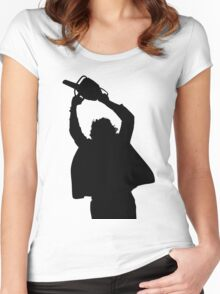 Chainsaw massacre silhouette Women's Fitted Scoop T-Shirt