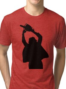 Chainsaw massacre silhouette Tri-blend T-Shirt