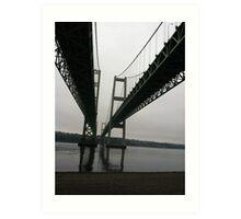 Rainy day under the Bridge Art Print