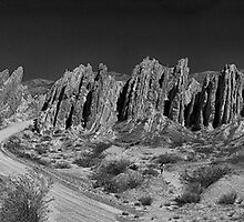 Argentine Mountains Panorama - Number 2 - Monochrome by photograham