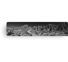 Argentine Mountains Panorama - Number 2 - Monochrome Canvas Print