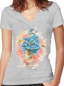 Lady Isabella Women's Fitted V-Neck T-Shirt