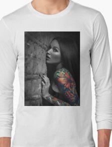 Sexy Tattoo Girl Long Sleeve T-Shirt