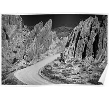 Roadway in the Mountains - in monochrome Poster