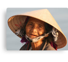 Vietnamese Lady in  Hoi An Canvas Print