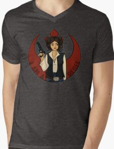 Rebel Girl Mens V-Neck T-Shirt