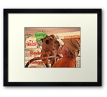 """Redneck and a Longneck""... prints and products Framed Print"