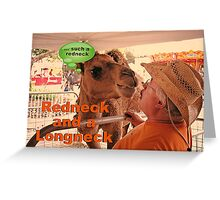 """Redneck and a Longneck""... prints and products Greeting Card"