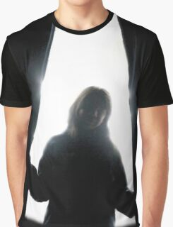 Behind curtains girl Graphic T-Shirt