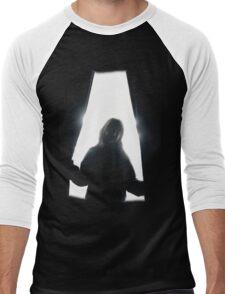 Behind curtains girl Men's Baseball ¾ T-Shirt