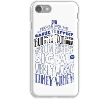 Doctor Who Timey Wimey Tardis Lettering iPhone Case/Skin