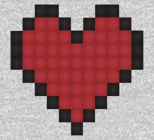 PIXEL HEART T-SHIRT (8-BIT) by melezz