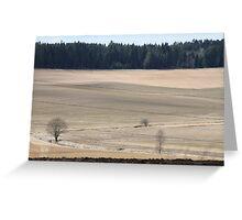 Farm land. Spring time. Norway. Greeting Card