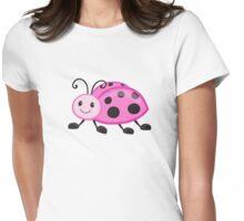 Cute cartoon ladybug Womens Fitted T-Shirt