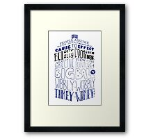 Doctor Who Timey Wimey Tardis Lettering Framed Print