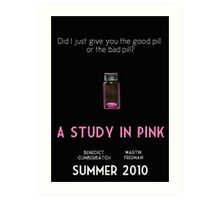 A Study In Pink poster Art Print