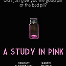 A Study In Pink poster by bowtieskeys