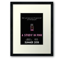 A Study In Pink poster Framed Print
