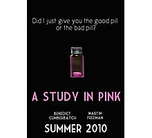 A Study In Pink poster Photographic Print