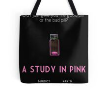 A Study In Pink poster Tote Bag