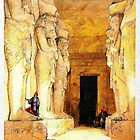 The Temple of Gyrshe (Gerf Hussein) in Nubia, Egypt.  by Dennis Melling
