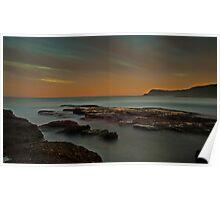 Frazer Beach Sunset Rocks Poster