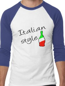 Italian Style Men's Baseball ¾ T-Shirt