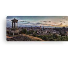 Panoramic Sunset over the City of Edinburgh. Scotland Canvas Print