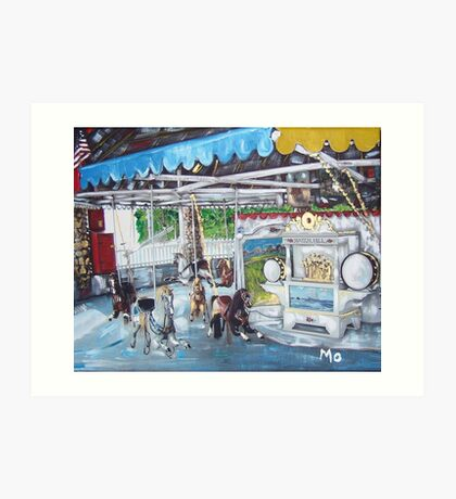 Watch Hill Carousel Art Print