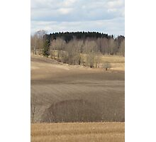 Farm land. Spring time. Stubble. Photographic Print