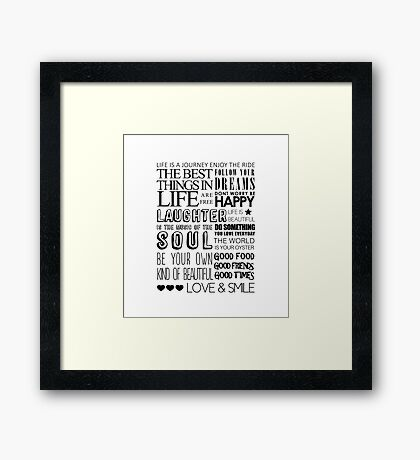 House Words Framed Print