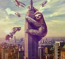 Sloth King Kong poster by Marco Mitolo