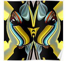 contemporary techno art 1018 Poster