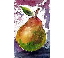 Pear in watercolour Photographic Print