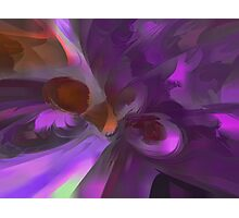 Purple Butterfly Pastel Abstract Photographic Print
