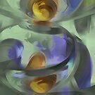 Circumvoluted Pastel Abstract by Alexander Butler