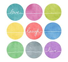 Love Laugh Live 2 (Colorful) by Mareike Böhmer