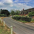 Woodbastwick village and church by Avril Harris