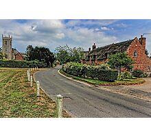 Woodbastwick village and church Photographic Print