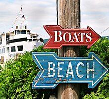 Boats and Beach No. 2 nautical bathroom art by jemvistaprint