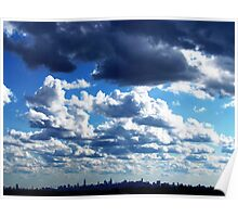 Clouds over New York City  Poster