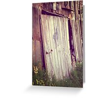 Broken Barn Door No. 2 rustic farm decor country decor rural decay Greeting Card
