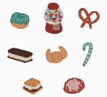 Pixel Junk Food Stickers 3 by siins