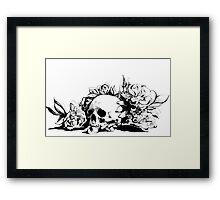 Hamlet Skull Framed Print