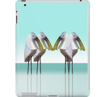 Spoonbill gathering iPad Case/Skin