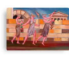 Classical Greek Ladies Walking  Canvas Print