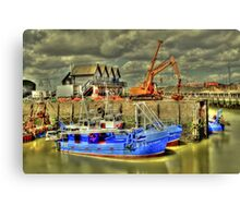 Fishing boats of Whitstable (HDR)  Canvas Print