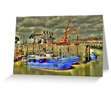 Fishing boats of Whitstable (HDR)  Greeting Card