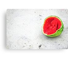 The Remains Of Summer - Watermelon Art By Sharon Cummings Canvas Print